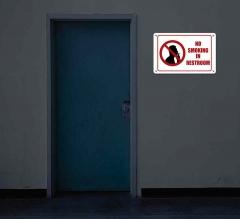 Reflective No Smoking Restroom Signs