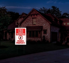 Reflective No Trespassing Yard Signs