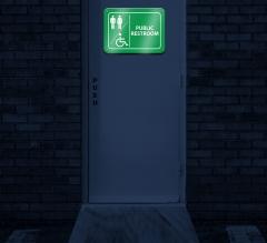 Reflective Public Restroom Signs
