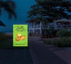 Reflective Restaurant Yard Sign