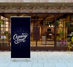 Coming Soon Roll Up Banner Stands