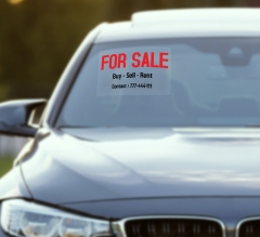 Sales Car Signs Clear