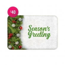 Free Season's Greeting Indoor Floor Mats (2.25' x 1.5')