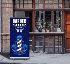 Barber Shop Roll Up Banner Stands