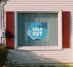 Sold Clear Window Decals