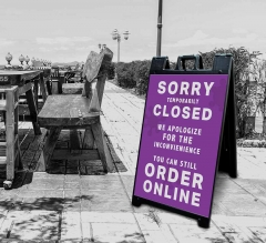 Sorry Temporarily Closed Order Online Signicade Black
