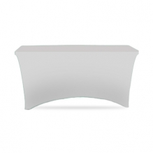 4' Stretch Table Covers - White