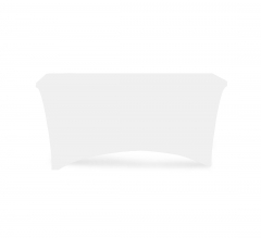 6' Stretch Table Covers - White