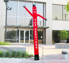 Tax Services Inflatable Tube Man Red