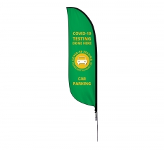 Pre-Printed Testing Done Here Feather Flag