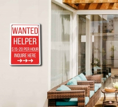 Wanted Patio Signs