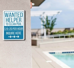 Wanted Pool Signs