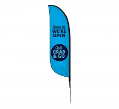 Pre-Printed We are Open Feather Flag