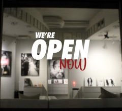 We Are Open Vinyl Letters