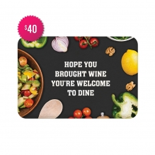 Free Welcome To Dine Indoor Floor Mats (2.25' x 1.5')