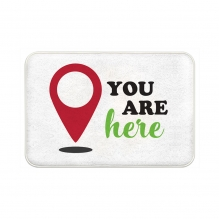 You Are Here Floor Mats
