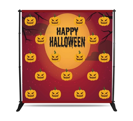 Halloween 10 ft x 8 ft Step and Repeat Adjustable Banner Stands