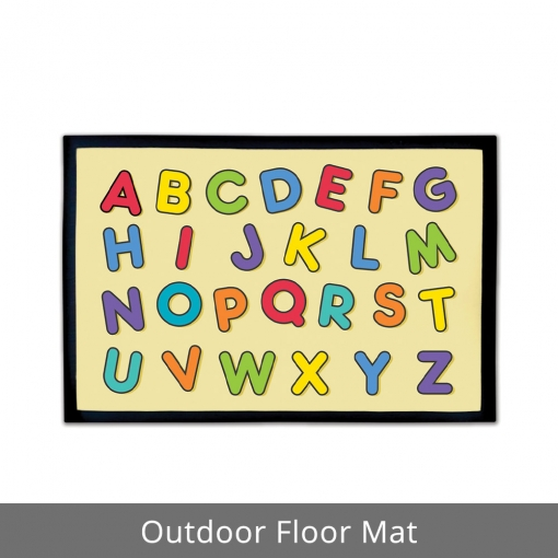 Alphabets Outdoor Floor Mats