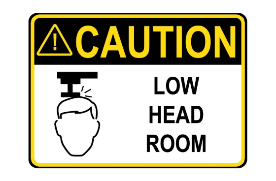 ANSI CAUTION Low Head Room Sign