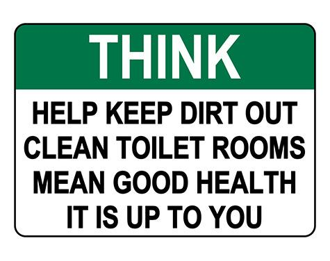 ANSI THINK Help Keep Dirt Out Sign