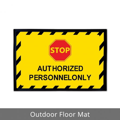 Authorized Personnel Only Outdoor Floor Mats