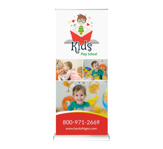 Baby Step 39.25'' Retractable Banner Stand