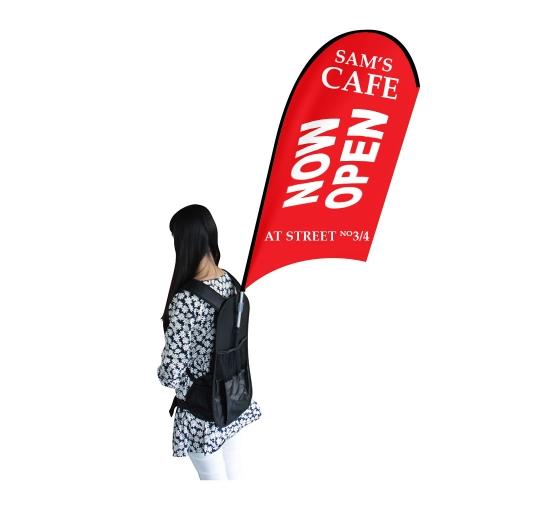 Backpack Flags - U Shape