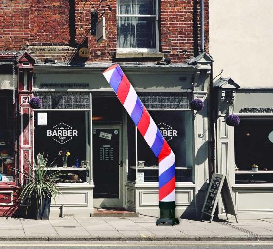Barber Pole (Red, White, Blue) Tube