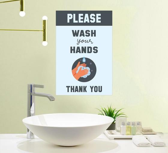 Please Wash your Hands Vinyl Posters