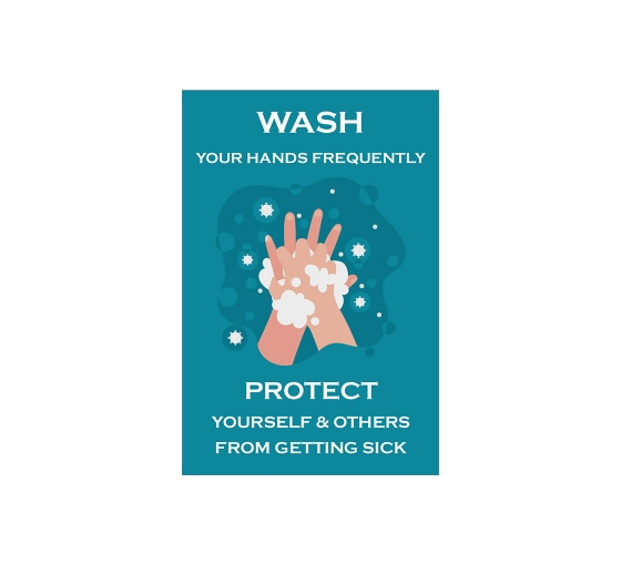Covid-19 Prevention Wash your Hands Window Clings