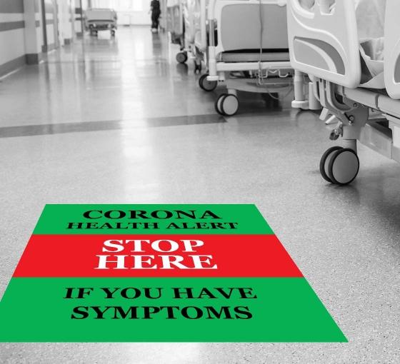 Coronavirus Stop Here if you have Symptoms Floor Decals