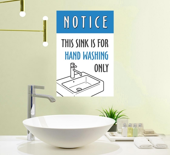 This Sink is for Hand Washing Only Vinyl Posters
