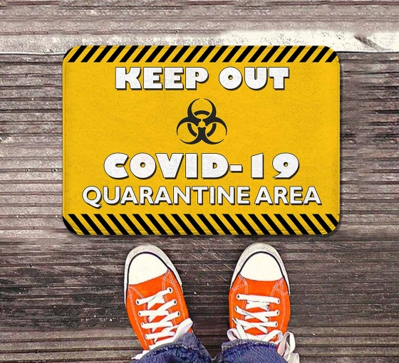Keep Out Covid-19 Quarantine Area Indoor Floor Mats