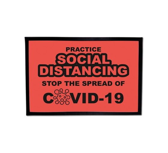 Practice Social Distancing Stop the Spread Outdoor Floor Mats