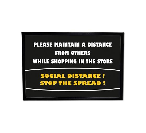 Please Maintain Distance Outdoor Floor Mats