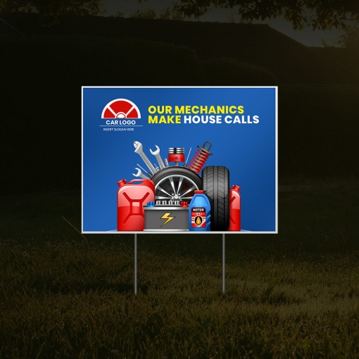 Cheap Business Advertising Yard Signs - Reflective