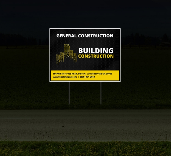 Cheap Contractor Signs - HIP Reflective