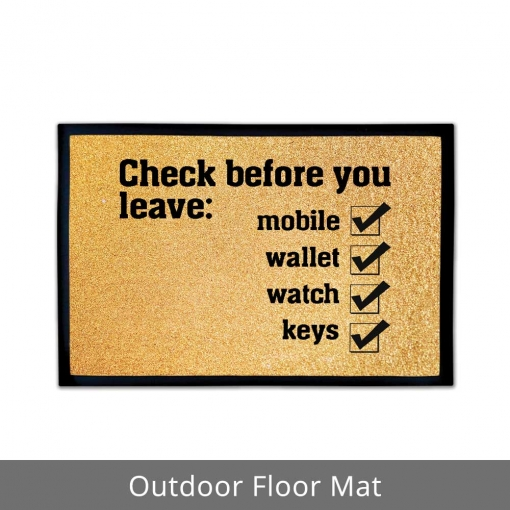 Checklist Outdoor Floor Mats