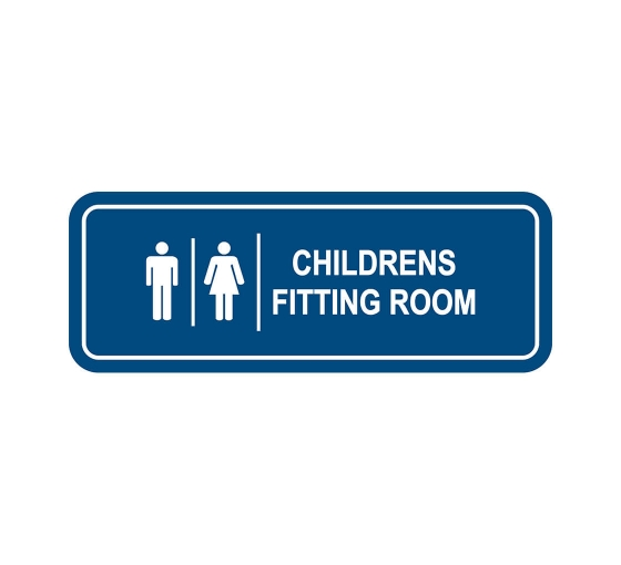 Children's Fitting Room Sign
