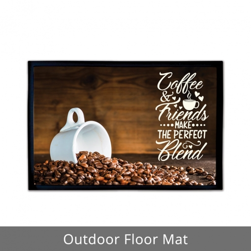 Coffee & Friends Outdoor Floor Mats