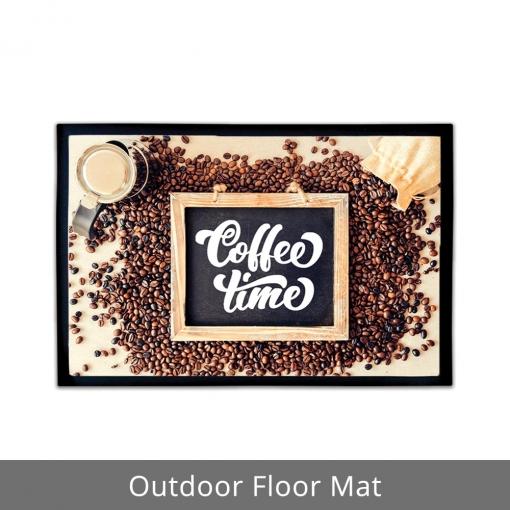 Coffee Time Outdoor Floor Mats