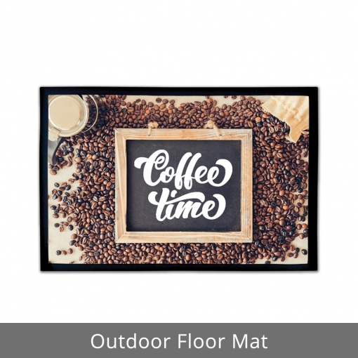 Coffee Time Outdoor Floor Mats