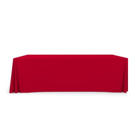 8' Convertible/Adjustable Table Covers - Red