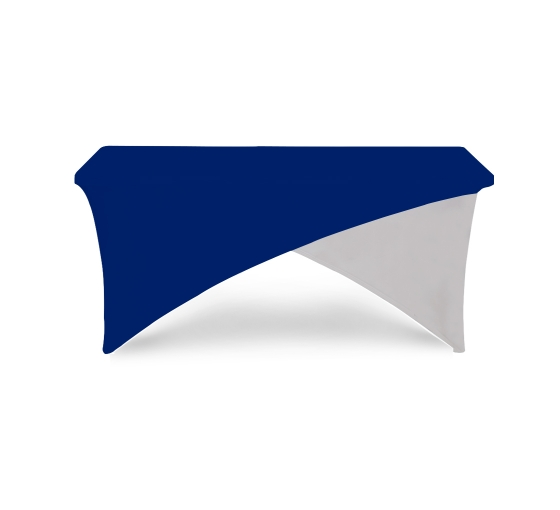 6' Cross Over Table Covers - Blue & White