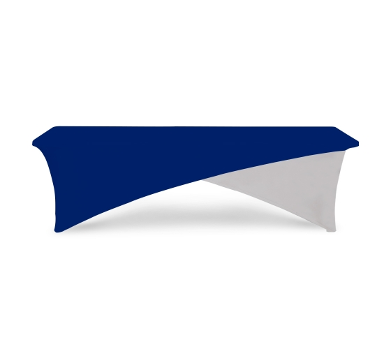 8' Cross Over Table Covers - Blue & White