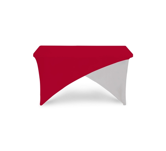 4' Cross Over Table Covers - Red & White