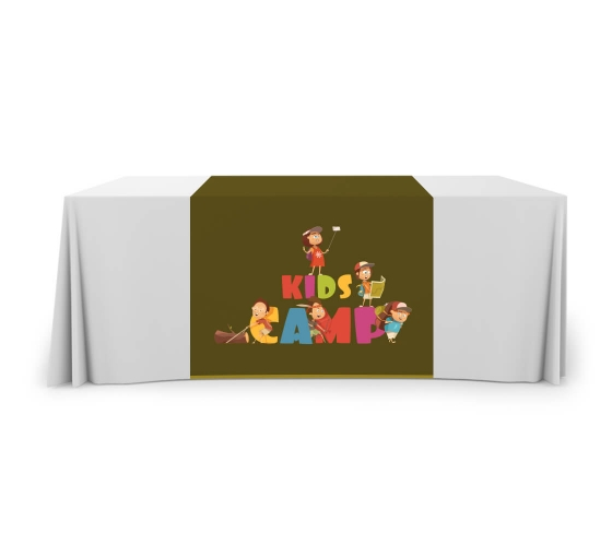 Custom Table runner  2/' x 5.67./' trade show exhibition conference brand visible