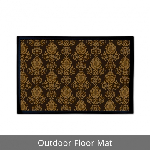 Damask Decor Outdoor Floor Mats