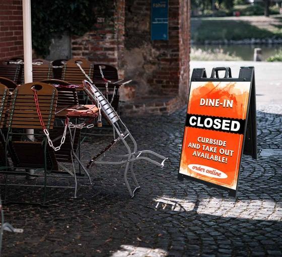 Dine In Closed Signicade Black