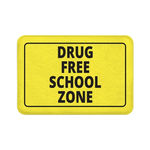 Drug Free Zone Floor Mats
